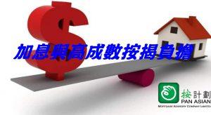 加息對高成數按揭借款人影響